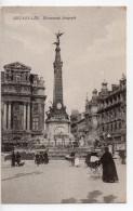CPA.Belgique.Bruxelles.Monument Anspach.Animée Femme Avec Landau.Hotel Metropole. - Monuments, édifices