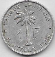 1 Franc Alu 1960 - Congo (Belge) & Ruanda-Urundi