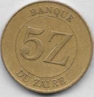 5 ZAIRES 1987 Qualité++++++++++++ - Zaire (1971-97)