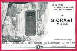 Sicra VII Meuble Radio Femme Seins Nues - Publicités