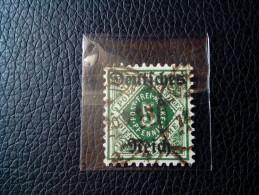 OLD German DT. Reich 1920 - Württemberg Dienstmarke With Overprint - 5 Pfennig STAMP MINT MI 52 - Oblitérés