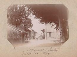 Suisse Photo Ancienne Founex  Entrée Du Village - VD Vaud