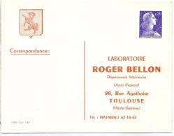 REF LCTN26 - EP CP TSC TYPE MÜLLER 0.20f  ROGER BELLON TEXTE ROUGE NEUVE - Postales Tipos Y (antes De 1995)