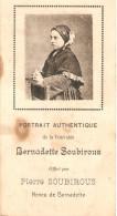 Image De Bernadette Soubirous, Offert Par Son Neveu Pierre, 16 Place Mgr Laurence à Lourdes, Date Des Apparitions Au Dos - Historical Documents