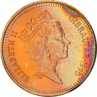 Gibraltar, Elizabeth II, Penny, 1990, Bronze, KM:20 - Gibraltar