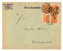DR MiNr 227 A (4) Als MeF Drucksache MAGDEBURG - WOLMIRSTEDT; 22.3.23 - Deutschland