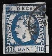 ROUMANIE - ROMANIA - 1869 -  N° 22 Oblitéré - 1858-1880 Moldavie & Principauté