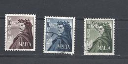 MALTA    1965 The 700th Anniversary Of The Birth Of Dante Yv 322/324* - Malta