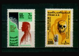 SYRIA / 1980 / WORLD HEALTH  DAY / ANTI-SMOKING CAMPAIGN / SKULL / CIGARETTES / MEDICINE / DEATH / MNH / VF - Siria
