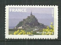 FRANCE MNH ** Adhésif Autocollant 334a Le Mont Saint Michel - Autoadesivi
