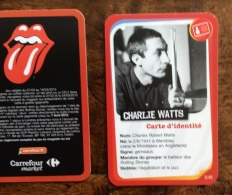 Rolling Stones : 1 Vignette Carrefour Market (5x8,5 Cm) Charlie Watts - Objets Dérivés