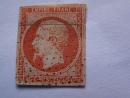 """"" TP   NAPOLEON  III Légende Empire Franc. // 40 C.  ORANGE  """" POINTILLES - 1853-1860 Napoleon III"