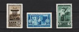 1934  EXPO. Des Travaux En Zone Rurale Mi No 465/467 Et Yv No 468/470 MNH - 1918-1948 Ferdinand, Carol II. & Mihai I.
