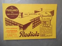 RADIOLA RADIO-THIERACHE GOUVERNEUR 37 RUE DE LA BOVETTE ST-MICHEL AISNE - Blotters