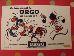 Buvard Pharmacie Pansement Urgo Combat De Coq. Vers 1950 - Chemist's