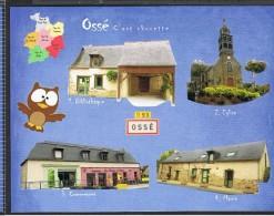 Cp Géo 35 - Multivues De OSSE, église, Mairie, Bibliothèque, Commerces, Chouette - Cartes Géographiques