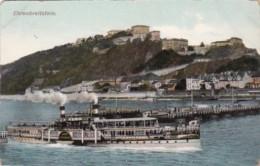 Germany Koblenz Ehrenbreitstein mit Dampfer