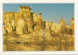R2302 Turchia - Cappadocia - I Camini Delle Fate - Cartolina Con Legenda Descrittiva - Edizioni De Agostini - Europe