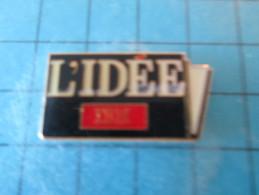 Pin415a Pin´s Pins / THEME INFORMATIQUE :  L'IDEE IBM Rare  INSCRIPTION AU DOS ,  Voir Photo N°2 - AUBERT  - Très Bon ét - Informatica