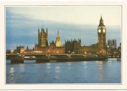 R2314 Gran Bretagna - Londra - Il Ponte Di Westminster - Cartolina Con Legenda Descrittiva - Edizioni De Agostini - Europe