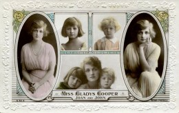 GLADYS COOPER -  ROTARY S52-5  - WITH  DAUGHTERS   Gc69 - Actors
