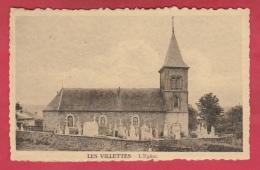Les Villettes - L'Eglise Et ... Cimetière Autour , Tombes - 1946  ( Voir Verso ) - Lierneux