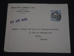 GRANDE BRETAGNE / CHYPRE - Enveloppe Pour La France En 1952 - A Voir - L 1557 - Cyprus (...-1960)