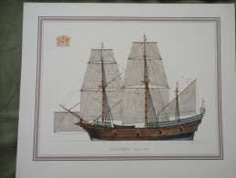LITHOGRAPHIE - MAYFLOWER 1620 - 1664. DESIGNED BY H. A. MUTH - Lithographies