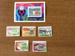 UPPER VOLTA   Soccer Football  World Cup 1978  5v.+SS  With Red Overprints  Perf.  Rare! - World Cup