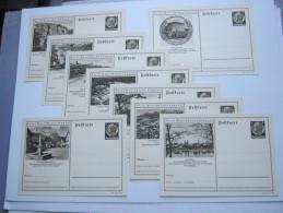 1938 ,Hindenburg, Bildganzsache, 9 Bessere Karten  , Alle Unverschickt - Ganzsachen