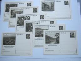 1937 ,Hindenburg, Bildganzsache, 8 Bessere Karten  , Alle Unverschickt - Deutschland