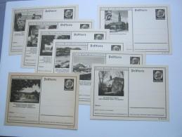 1940 ,Hindenburg, Bildganzsache, 8 Bessere Karten  , Alle Unverschickt - Allemagne
