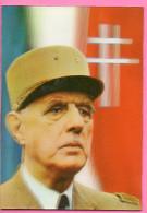 Carte Postale En Relief Avec Portrait De Charles De Gaulle - Frankrijk
