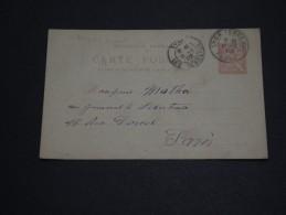 FRANCE  - Entier Postal Type Mouchon De Lyon Pour Paris En 1902 - A Voir - L 1582