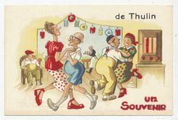 CPA PK  UN SOUVENIR DE THULIN - Belgium