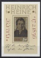 Germany (DDR) 1972  Heinrich Heine (**) MNH  Mi.1814 (block 37) - [6] République Démocratique