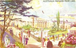 EXHIBITION - 1924/5 - AUSTRALIA PAVILION FROM LAKE Ex16 - Exhibitions