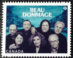 CANADA, 2013, # 2658i,  CANADIAN RECORDING ARTISTS: BEAU DOMMAGE  DIE CUT TO SHAPE FROM QUARTELY PACK - Carnets