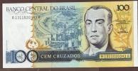 BRASIL 100 CRUZADOS ND (1986-1988) SERIE A  P# 211b  Signatures: Dilson Funaro & Francisco Gros UNC - Brazil