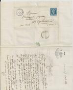 MORTAGNE SUR HUISNE ETUDE DE M CHILARD AVOUE ENVELOPPE LETTRE ANNEE 1862  A MR MAUGER MEDECIN SAINT CYR LA ROSIERE NOCE - France