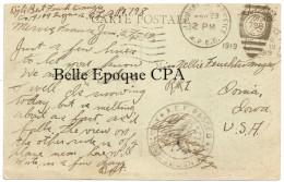 58 - COSNE-sur-LOIRE - Le Marché ++++ US ARMY / Soldier's Mail / AEF Passed As Censored +++++ CENSURE / 1919 - Cosne Cours Sur Loire