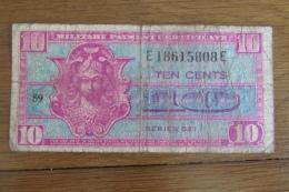 Certificat De Payement Militaire 10 Cents - 1954-1958 - Reeksen 521