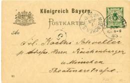 N3796 Altdeutschland Ganzs. Bayern St. Schleissheim N. München - Briefe U. Dokumente