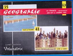 LIVRET EDUCATIF VOLUMETRIX NEUF N° 47 GEOGRAPHIE LA FRANCE DEPARTEMENTS AIN 01 A LOZERE 48 SCOLAIRE FERMETURE LIBRAIRIE - 6-12 Years Old