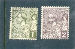 1891 MONACO Y & T N° 11 ( O ) - 15 ( * )  1c - 2c - Monaco