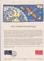 DOCUMENT PHILATHELIQUE 1989 VOL FRANCO SOVIETIQUE - Documentos Del Correo