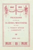 Programm Terrot . Cannstatt - 1862 - 1912 - Seasons & Holidays