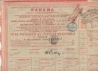 Emprunt Compagnie Universelle Du Canal Interocéanique De Panama 8 Juin 1888 - Navigation