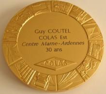 Ets Colas - Marne Ardennes -  30 Ans De M.Coutel - Bronze Ou Argent Doré. Sup - Professionals / Firms