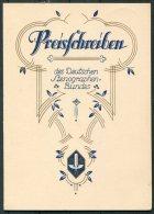 1930 Germany Dresden Deutscher Stenographen Preisschreiben , Deutschen Stenographenbundes Certificate - Diploma & School Reports